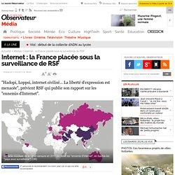 Internet : la France placée sous la surveillance de RSF - Média