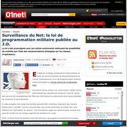 Surveillance du Net: la loi de programmation militaire publiée au J.O.