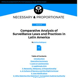 Comparative Analysis of Surveillance Laws and Practices in Latin America