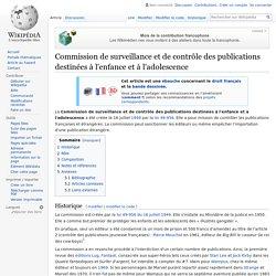 Commission de surveillance et de contrôle des publications destinées à l'enfance et à l'adolescence