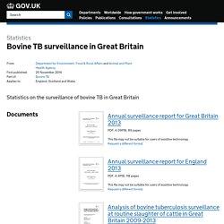 Bovine TB surveillance in Great Britain