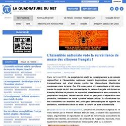 L'Assemblée nationale vote la surveillance de masse des citoyens français