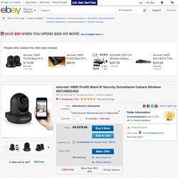 Amcrest 1080P ProHD Black IP Security Surveillance Camera Wireless REFURBISHED