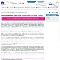 INVS 02/05/14 Surveillance des infections liées au nouveau coronavirus (MERS-CoV). Point au 30 avril 2014.