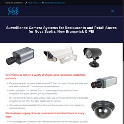 CCSPOS Surveillance Camera Systems for Restaurants and Retail Stores