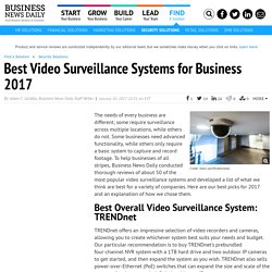 Best Video Surveillance Systems for Business 2017