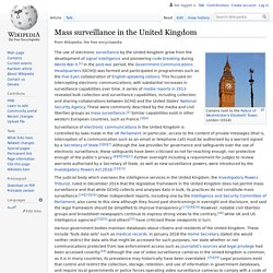 Mass surveillance in the United Kingdom