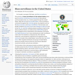 Mass surveillance in the United States