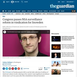 Congress passes NSA surveillance reform in vindication for Snowden