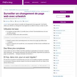 Surveiller un changement de page web avec urlwatch - PAB's blog