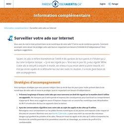 SURVEILLER VOTRE ADO SUR INTERNET – ParentsCyberAvertis.ca