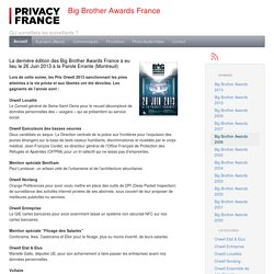 Big Brother Awards France (BBA-F)