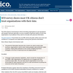 ICO survey shows most UK citizens don't trust organisations with their data