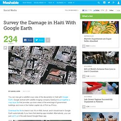 Survey the Damage in Haiti With Google Earth