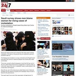 Saudi survey shows men blame women for rising cases of molestation