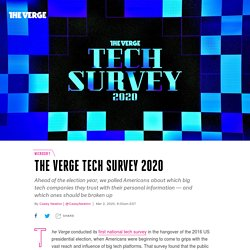 The Verge Tech Survey 2020: how people feel about Apple, Google, Facebook, and more