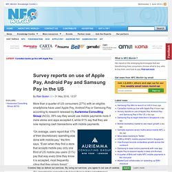 Survey reports on use of Apple Pay, Android Pay and Samsung Pay in the US