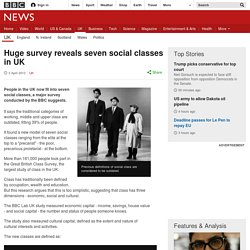 Huge survey reveals seven social classes in UK
