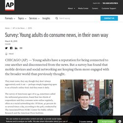 Survey Young adults do consume news, in their own way