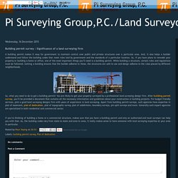 Building permit survey : Significance of a land surveying firm