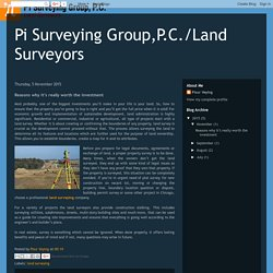 Pi Surveying Group,P.C./Land Surveyors: Reasons why it's really worth the investment