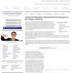 Surveyor: Career and Education in San Diego, California