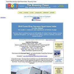Forest River Surveyor Sport travel trailer review - 2010 - Roaming Times