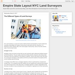Empire State Layout NYC Land Surveyors: The Different Types of Land Surveys
