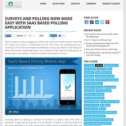 Have You Tried SaaS Based Polling Mobile Application?