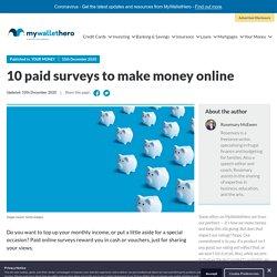 10 paid surveys to make money online