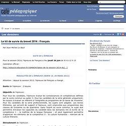 Le kit de survie du brevet 2014 : Français