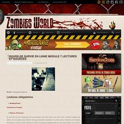 Cours de survie en ligne Module 7 Lectures et sources