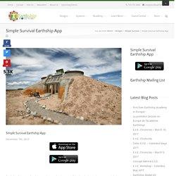 Simple Survival Earthship App - Earthship Biotecture