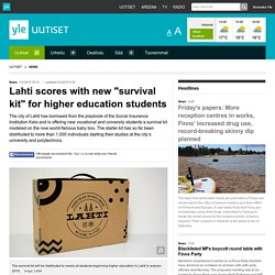 """Lahti scores with new """"survival kit"""" for higher education students"""
