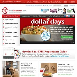 Food Storage, Survival Food, Emergency Food by Food Insurance