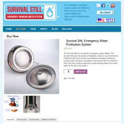 Survival Still, Emergency Water Purifier