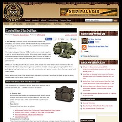 Survival Gear & Bug Out Bags