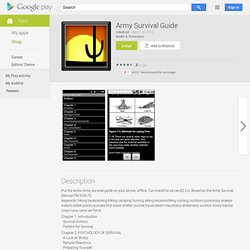 U.S. Army Survival Guide - Apps on Android Market