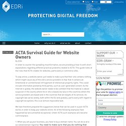 ACTA Survival Guide for Website Owners
