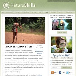 Survival Hunting Tips