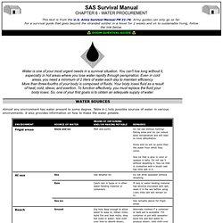 SAS Survival Manual - 6 - Water Procurement