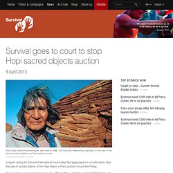 Survival goes to court to stop Hopi sacred objects auction
