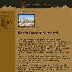 Basic Desert Survival