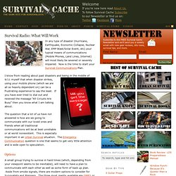 Survival Radio: What Will Work