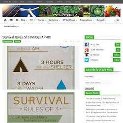 Survival Rules of 3 INFOGRAPHIC