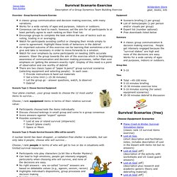 Survival Exercise Scenarios - Description of a Group Dynamics Team Building Exercise