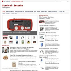 Survival, Security, Emergency Supplies
