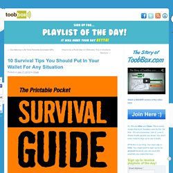 10 Survival Tips You Should Put In Your Wallet For Any Situation - Printable Pocket Guide!