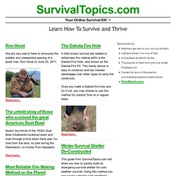 Survival Topics | Your Online Survival Kit!