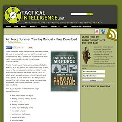 Air Force Survival Training Manual – Free Download